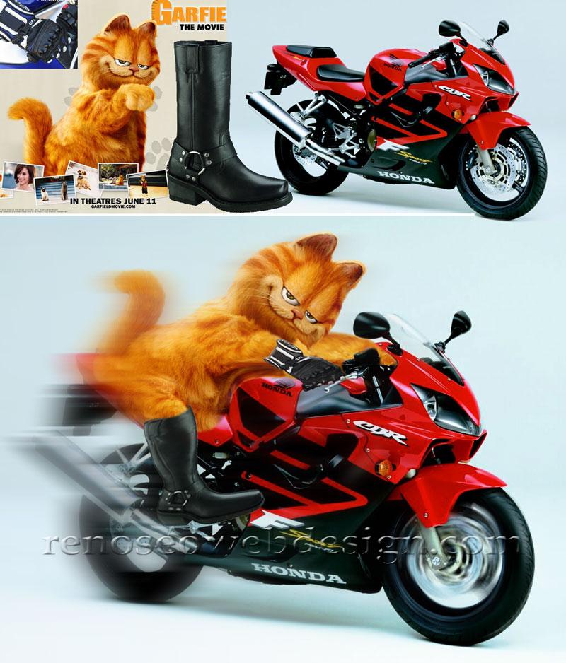 Garfield Biker